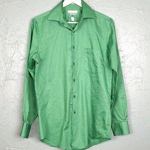 VAN HEUSEN Green Button Front Shirt